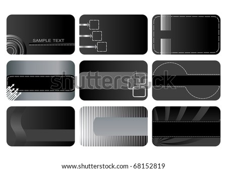 Set of Business cards. vector. - stock vector