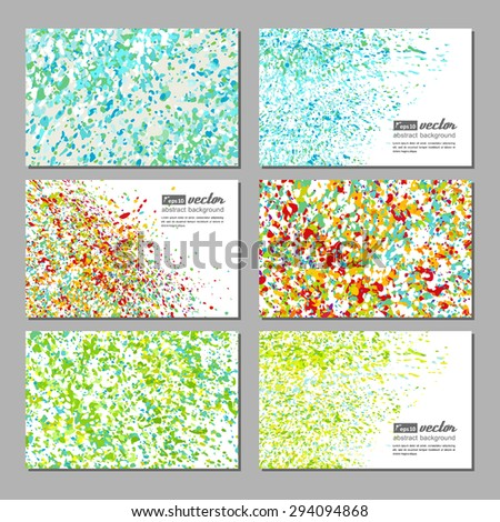 Set of business cards with a bright neutral background. Vector.