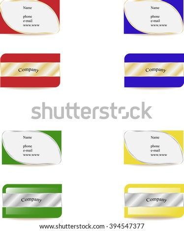 set of business cards with metallic elements