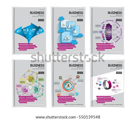 Set of business design templates. Vector