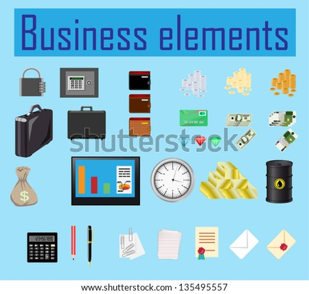 set of business elements