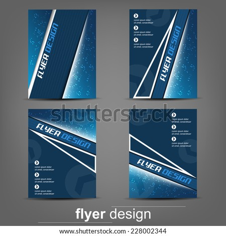 Set of business flyer template for cover design, document folder or brochure/design with place for your content, editable vector design - stock vector