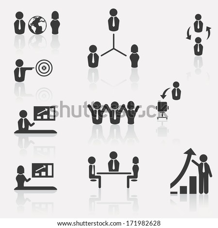 Set of business , human resources, and communication icon.  - stock vector