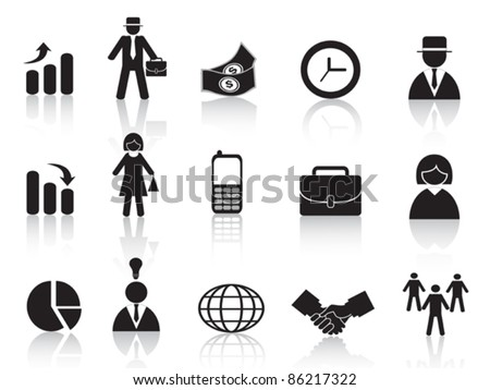 set of business icon - stock vector