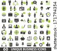 Set of 60 business icons. - stock photo