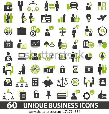 Set of 60 business icons.