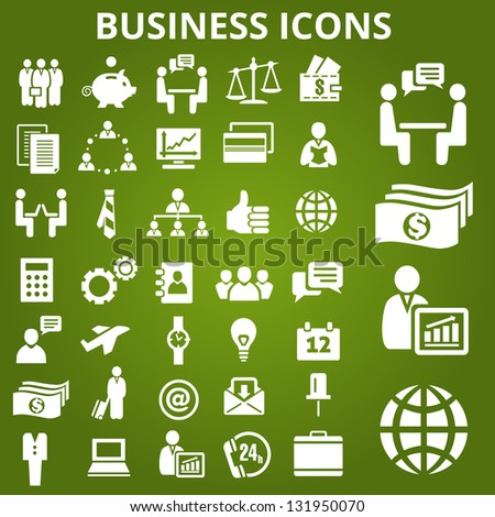 Set of business icons. Vector illustration - stock vector