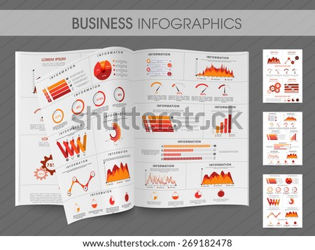 Set of business infographic colorful layout for print, publishing and presentation. - stock vector