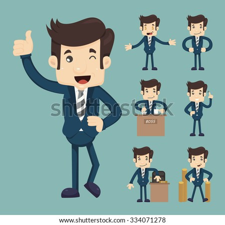 Set of business people , eps10 vector format - stock vector