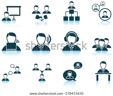 Set of business people icon. EPS 10 vector illustration without transparency. - stock vector