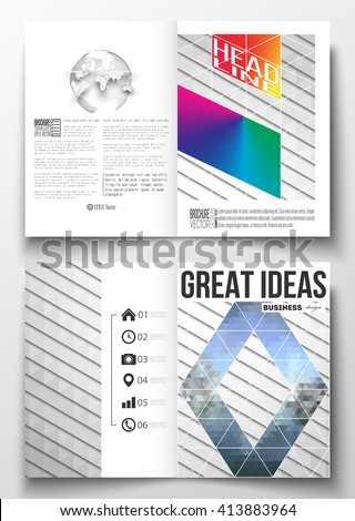 Half page stock images royalty free images vectors shutterstock set of business templates for brochure magazine flyer booklet or annual report pronofoot35fo Image collections