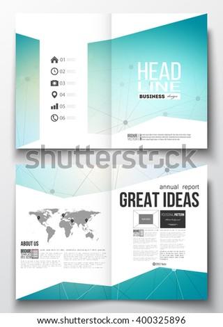Set Business Templates Brochure Magazine Flyer Stock Vector