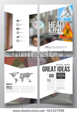 Set of business templates for brochure, magazine, flyer, booklet or annual  report.