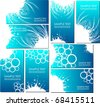 set of business templates in blue - stock vector