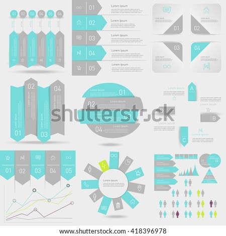 Set of business timeline element for Infographic. Easy to use for your business projects templates for presentation and training. Simple Editable Graphic infographics elements. Vector illustration.
