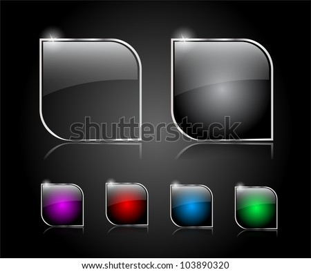 Set of buttons for web. Vector illustration. - stock vector