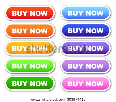 Set of 'Buy Now' Buttons - stock vector