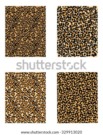 Set of camouflage pattern. Fashionable digital camouflage pattern, vector illustration
