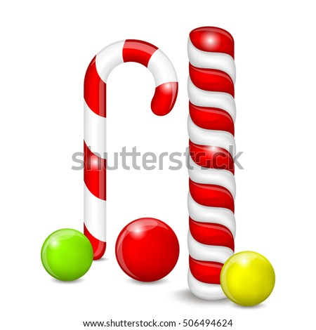 Set of Candies on a White Background. Candies Different. EPS-10. Mesh Gradient and Transparency was used.