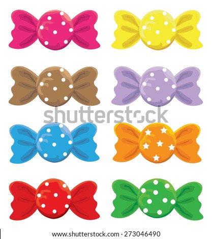 Set of Candy - stock vector