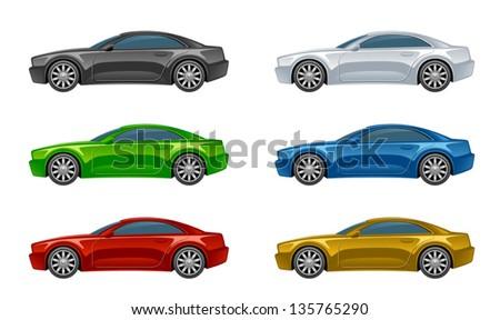 Set of car - stock vector