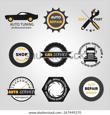 set car service auto repair isolated stock vector royalty free rh shutterstock com automobile repair shop logos automotive repair shop logo ideas