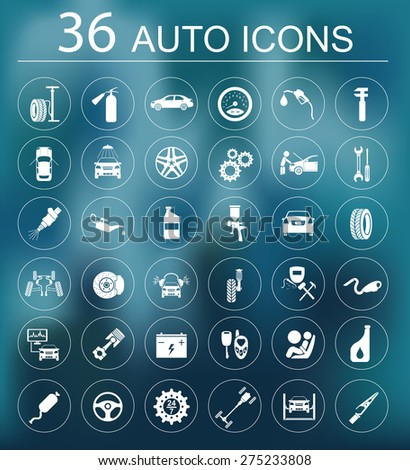 Set of car service icons. Vector illustration - stock vector