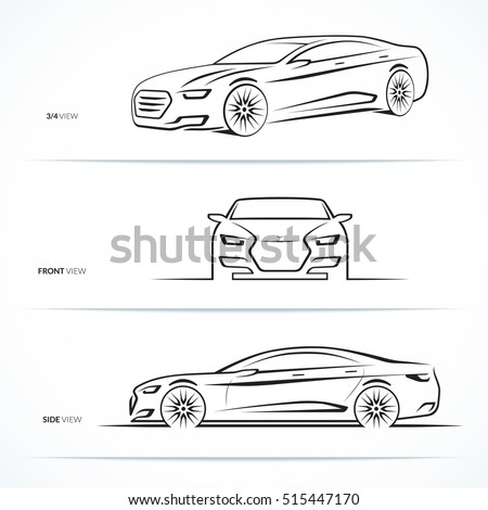 Car Sketch Stock Images Royalty Free Images Vectors