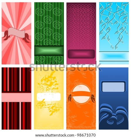 Set of cards - stock vector