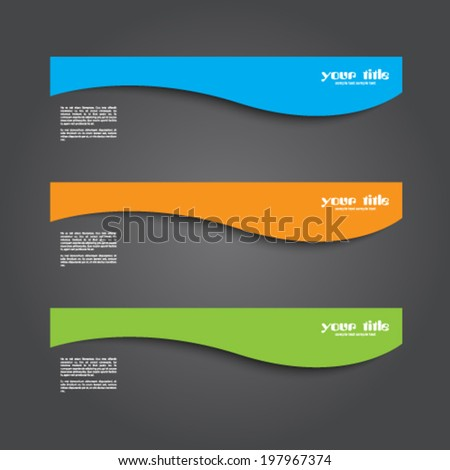 set of cards / text box - stock vector
