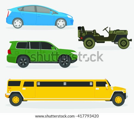 Set of cars. Vector illustration