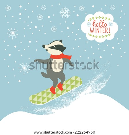 set of cartoon characters and holidays elements - stock vector