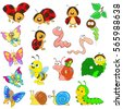 set of cartoon characters on a...