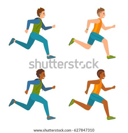 cartoon boys running