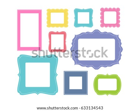 Set Cartoon Picture Frames Organized Gallery Stock Vector (2018 ...