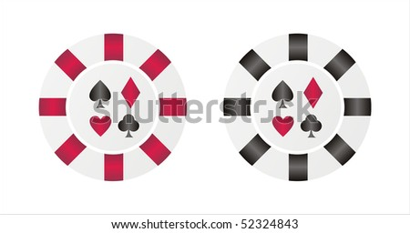 set of 2 casino chips