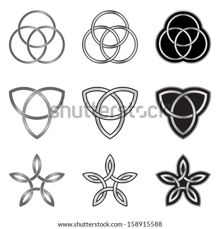 Set of Celtic Patterns, Models and Templates - stock vector