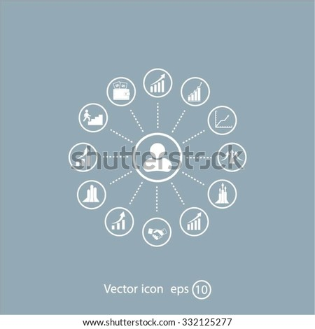 set of charts, vector icon