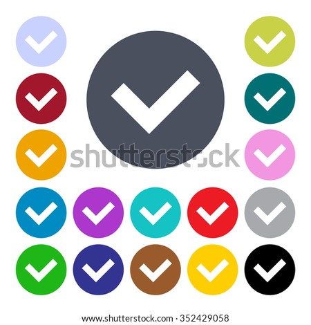 Set of check box icons. - stock vector