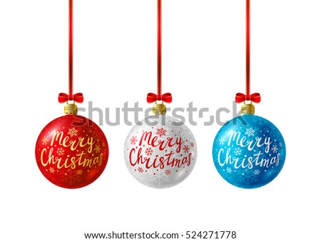 Set of Christmas balls for Your design