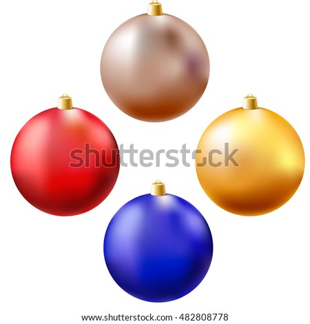 set of christmas balls. Vector illustration