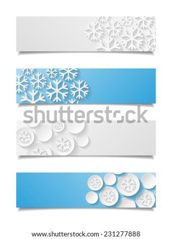 Set of christmas banners. Vector illustration  - stock vector