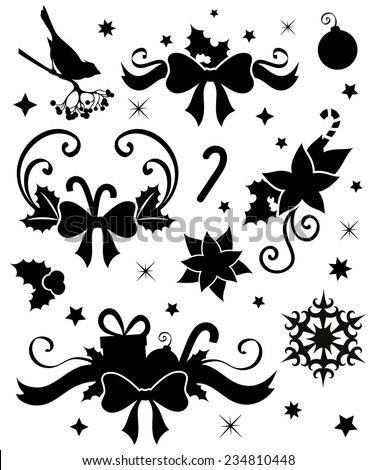 Set of Christmas decoration. - stock vector