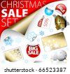 Set of Christmas discount tickets, labels, stamps, stickers, corners, tags - stock vector