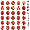 Set of Christmas (New Year) balls. Vector illustration. - stock vector