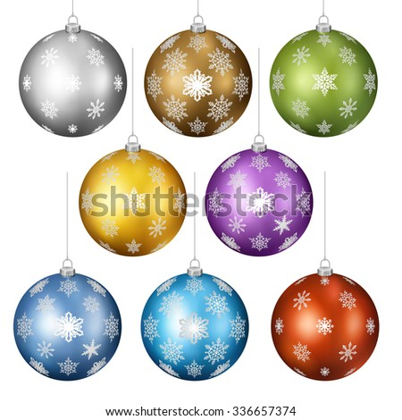 Set of christmas toys, EPS 10 contains transparency. - stock vector