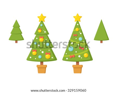 Decorate Christmas Tree Without Ornaments christmas tree pot stock images, royalty-free images & vectors