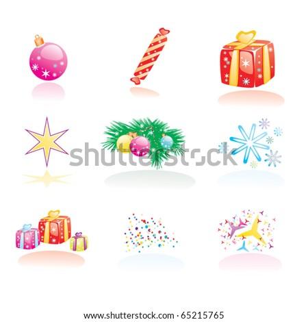 Set of Christmas vectors - stock vector