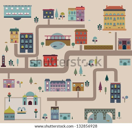 Set of city streets infographics - vector illustration - stock vector