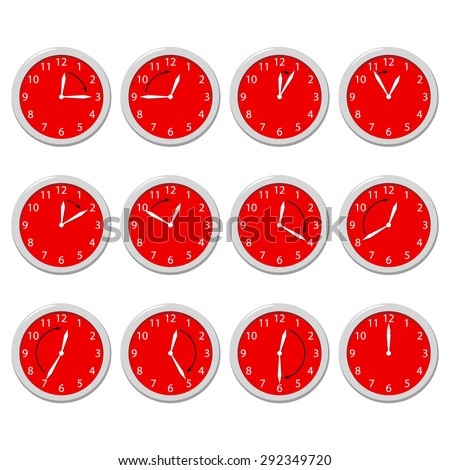 Set of clock timers. - stock vector